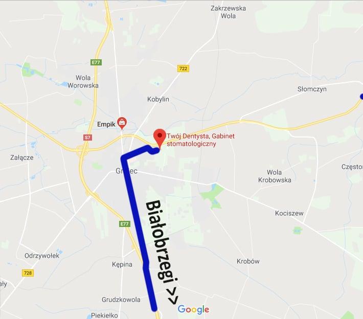 Dojazd Twój Dentysta Białobrzegi